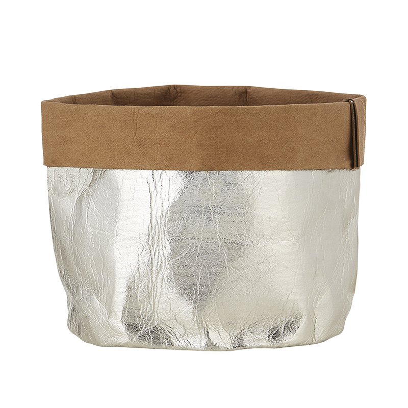 Washable Paper Holder - Large - Metallic Silver