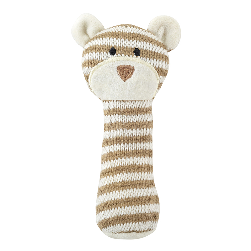 Knit Rattle - Brown Bear