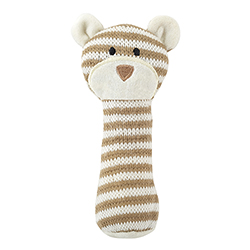 Knit Rattle - Brown Bear