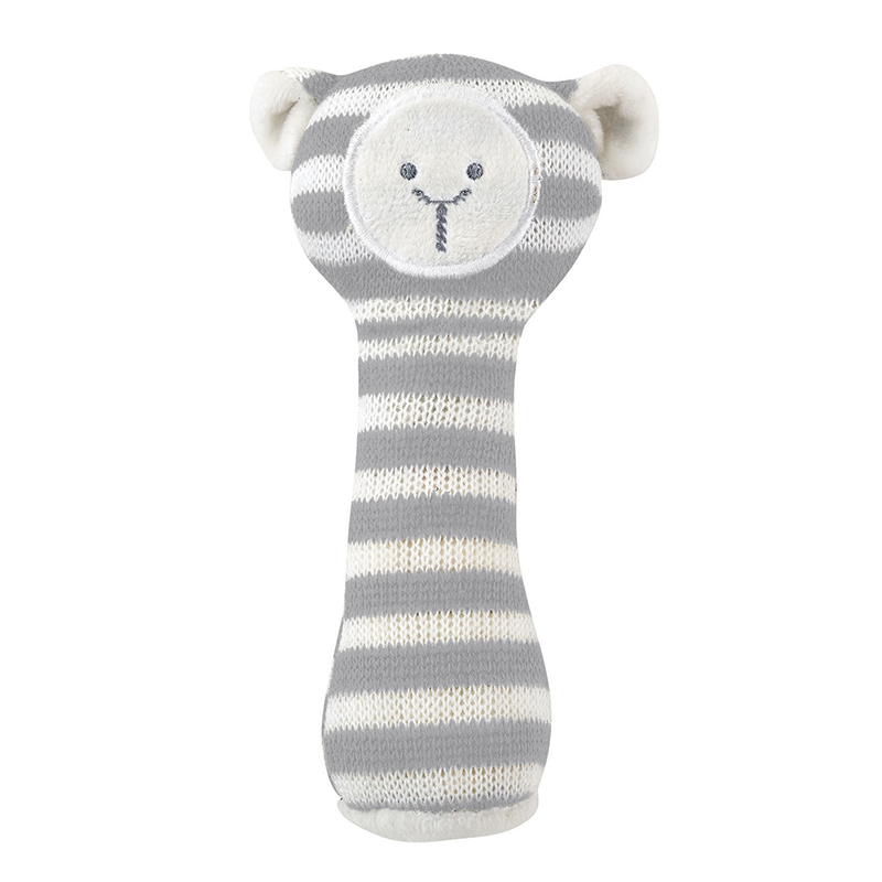 Knit Rattle - Cream Lamb