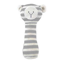 Knit Rattle - Cream Lamb