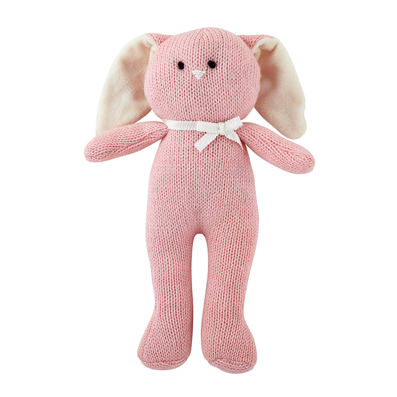 Knit Toy - Pink Bunny