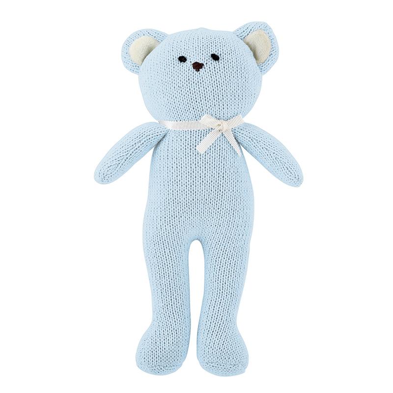 Knit Toy - Blue Bear