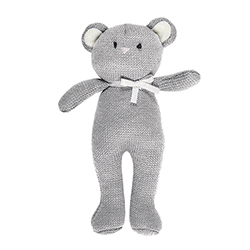Knit Toy - Gray Bear