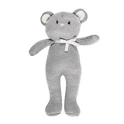 Knit Toy - Gray Bear