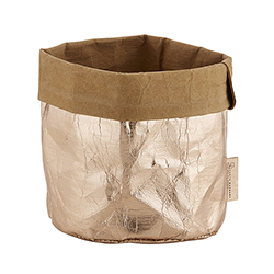 Washable Paper Holder - Medium - Metallic Rose Gold