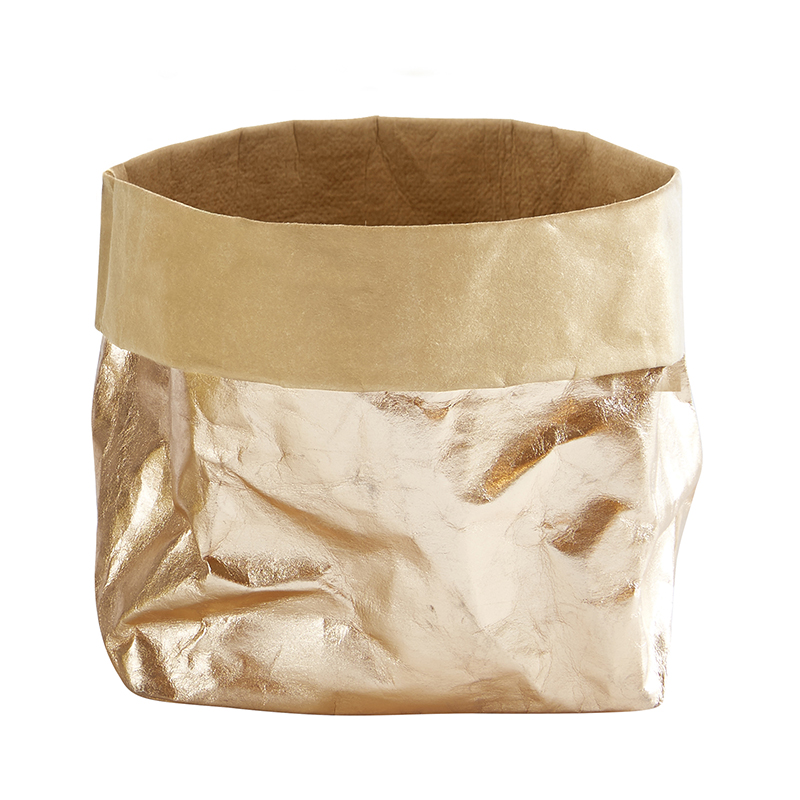 Washable Paper Holder - Large - Metallic Rose Gold