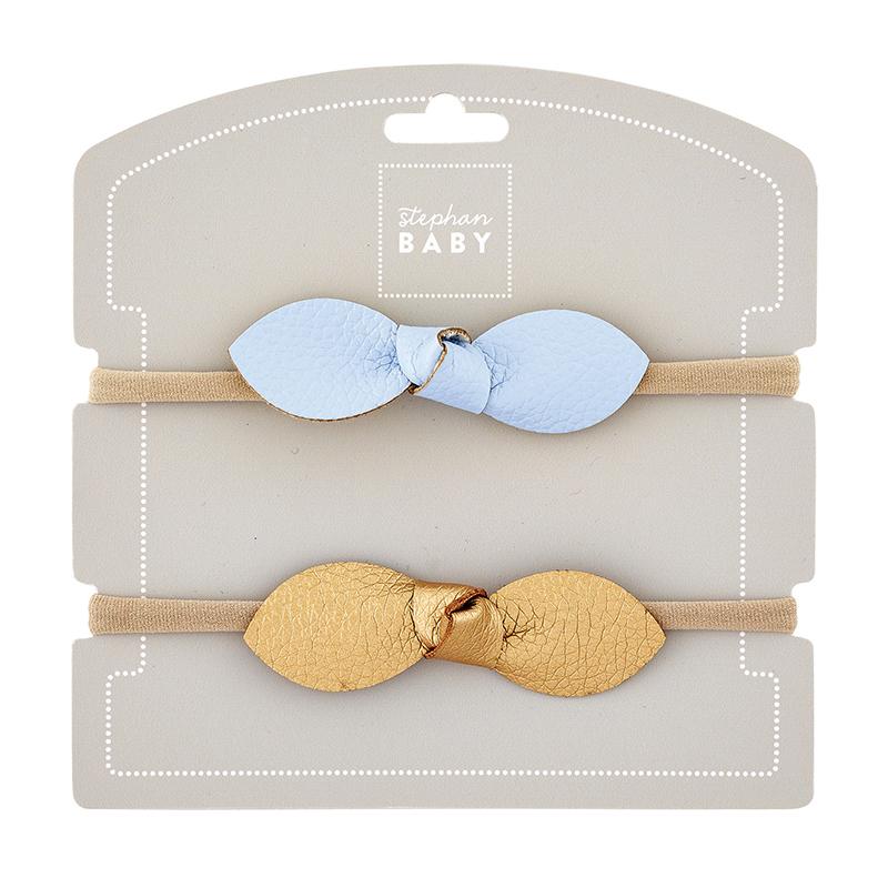 Headband Set - Blue/Gold