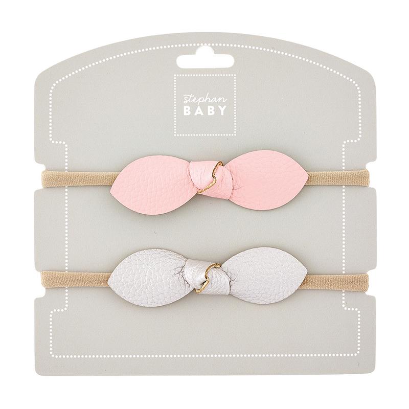 Headband Set - Pink/Silver