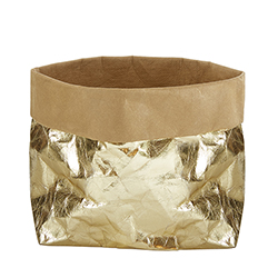 Washable Paper Holder - Large - Metallic Gold