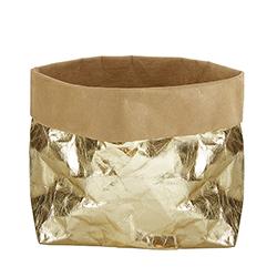 Washable Paper Holder - Large - Metallic Gold