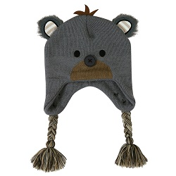 Knit Hat - Black Bear, 6-24 months