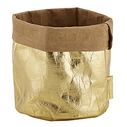 Washable Paper Holder - Medium - Metallic Gold