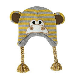Knit Hat - Monkey, 6-24 months