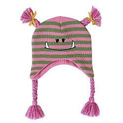 Knit Hat - Pink Monster, 6-24 months