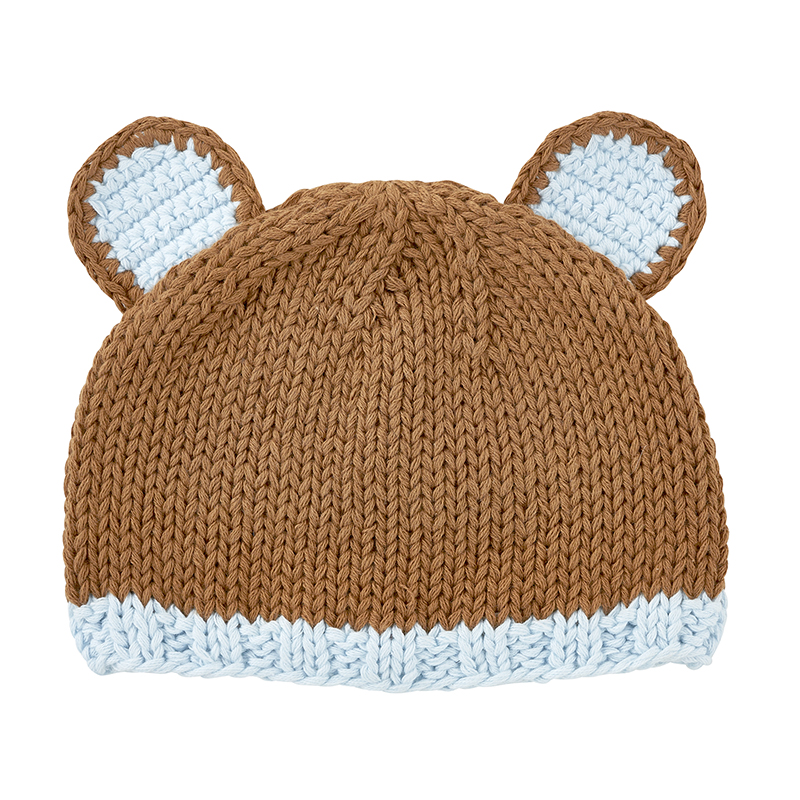 Knit Hat - Brown Bear, Newborn