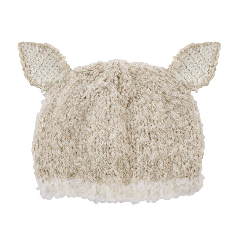 Knit Hat - Cream Lamb, Newborn