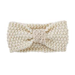 Knit Headband - Cream, 6-12 months