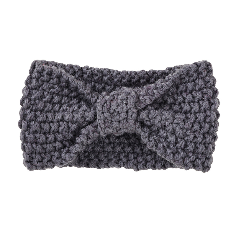 Knit Headband - Gray, 6-12 months