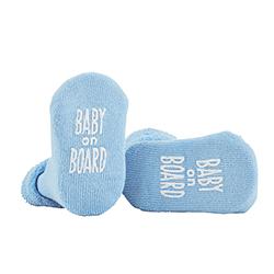 Socks - Blue - Baby On Board, 3-12 months