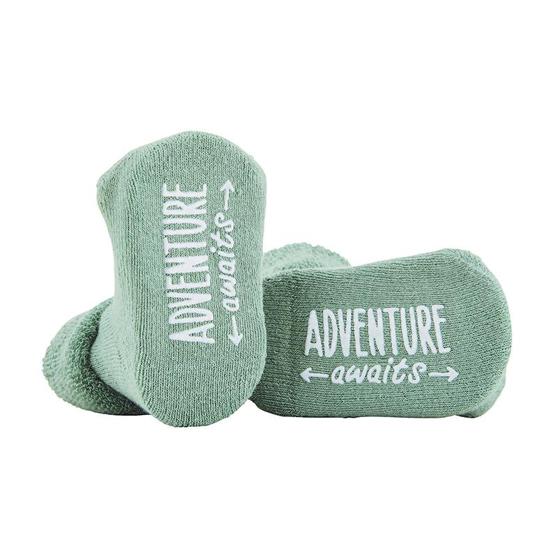 Socks - Green - Adventure Awaits, 3-12 months