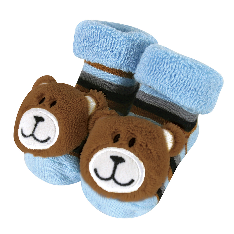 Rattle Socks - Blue Bear, 3-12 months