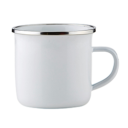 Heirloomed Enamel Cup - White