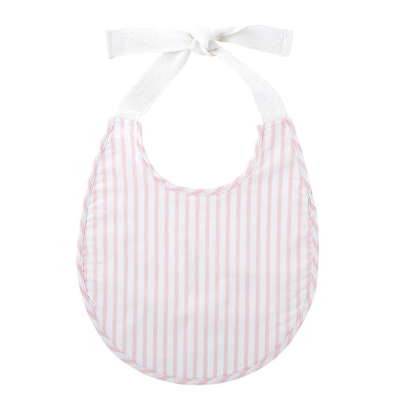 Heirloomed Bib - Pink Stripe