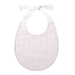 Heirloomed Bib - Pink Stripe