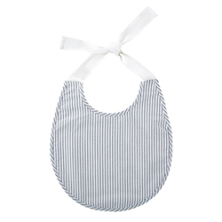Heirloomed Navy Stripe Bib