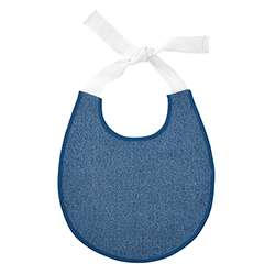 Heirloomed Bib - Pale Denim
