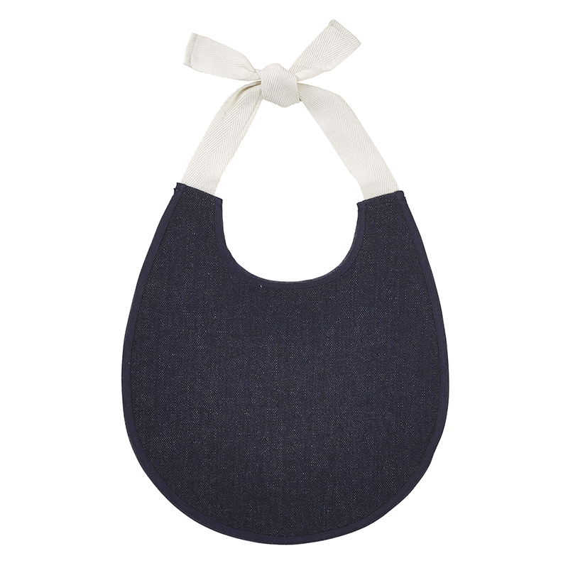 Heirloomed Bib - Dark Denim