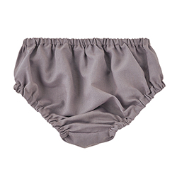 Heirloomed Bloomers - Gray, 6-12 months