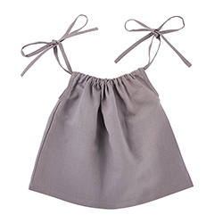 Heirloomed Smock Top - Gray, 6-12 months