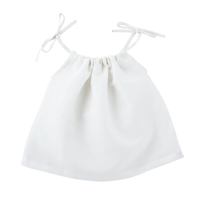 Heirloomed Smock Top - White, 6-12 months