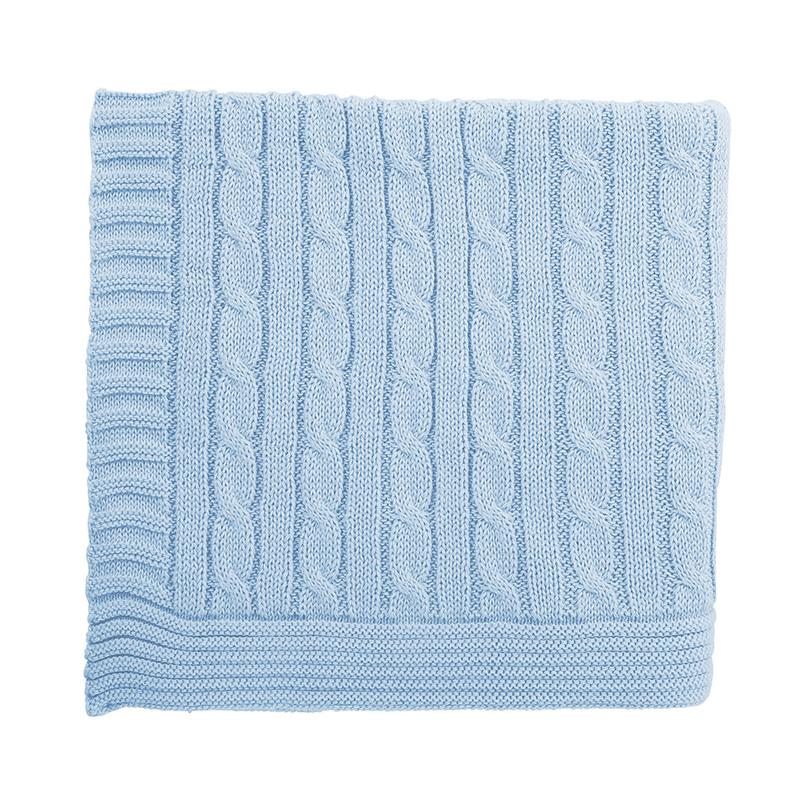 Heirloomed Sweater Blanket - Blue