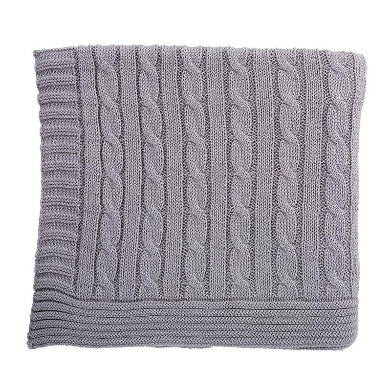 Heirloomed Sweater Blanket - Gray