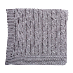 Heirloomed Sweater Blanket - Gray