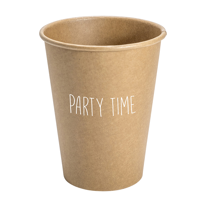 Paper Cup Set - Kraft - Party Time