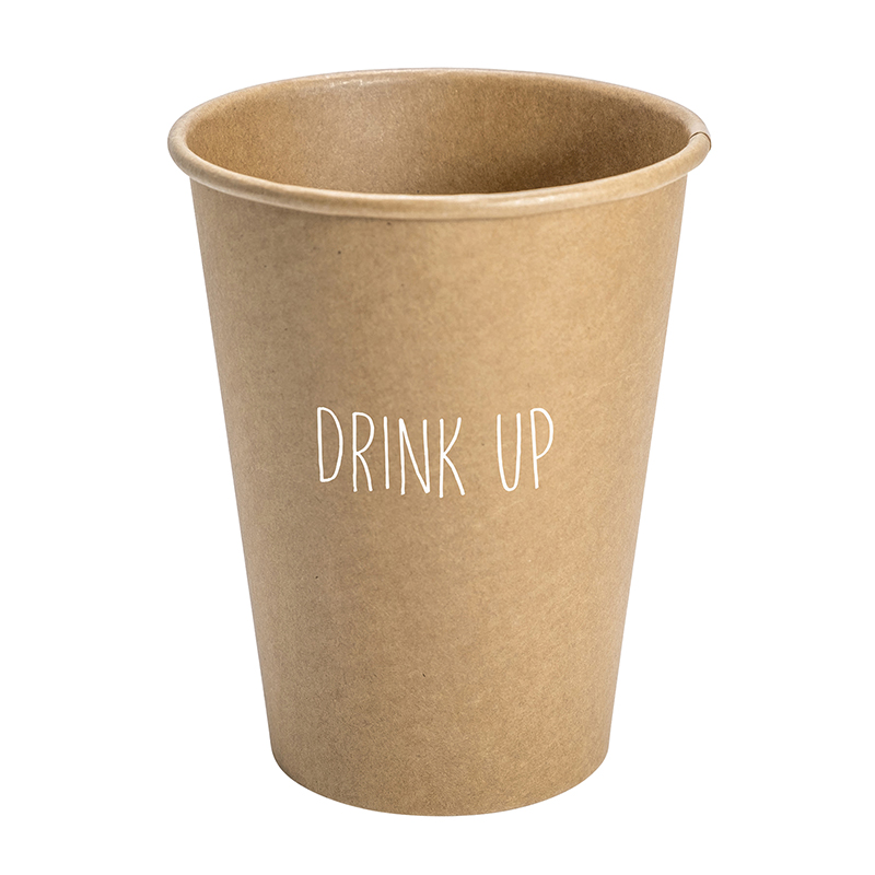 Paper Cup Set - Kraft - Drink Up