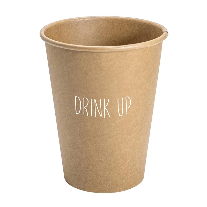 Paper Cup Set - Kraft - Drink Up
