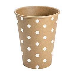 Paper Cup Set - Kraft - Polka Dots