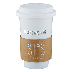 Ceramic Tumbler - I Don't Give A Sip