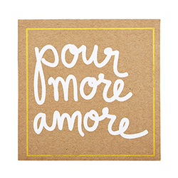 Corrugated Coasters - Pour More Amore