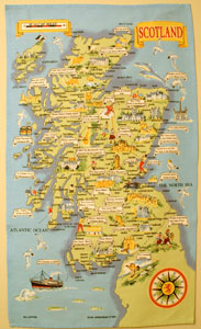 Scotland Map Teatowel