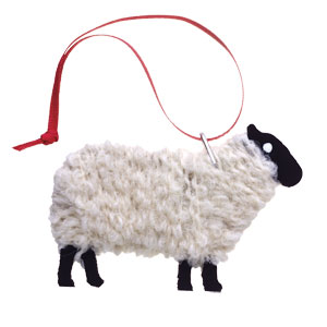 Lewis - Handmade Blackfaced Sheep Ornament