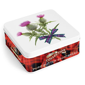 Thistle Shortbread Square Tin from Campbells