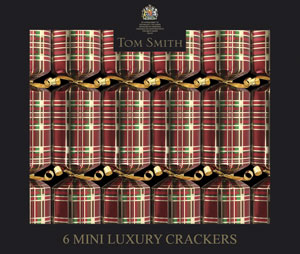 Tartan Christmas Crackers - set of six
