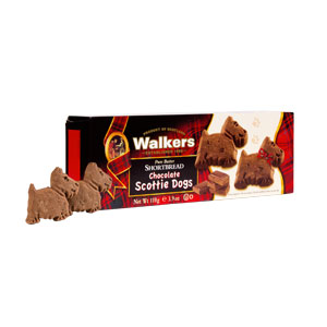 Chocolate Scottie Dog Shortbread from Walkers