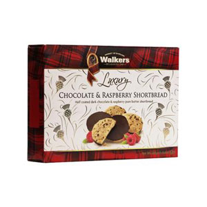 Chocolate & Raspberry Shortbread - Box of 12